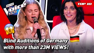 The MOST VIEWED Blind Auditions of The Voice Kids Germany 2021! 🎉   Top 10