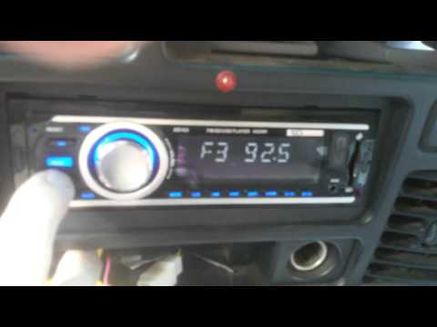 XO Vision XD103 FM and MP3 Radio Station Setting Instructions