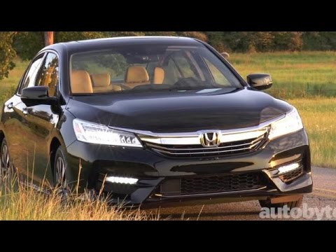 2017 Honda Accord Hybrid Touring Test Drive Video Review