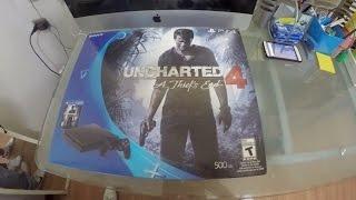 Unboxing PS4 Slim 500GB Edicion Uncharted 4 con Logan