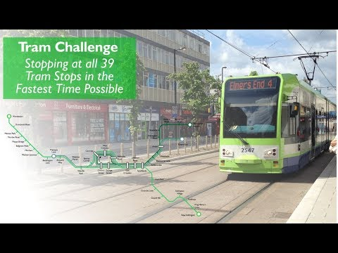 How Fast Can You Travel To All The Tram Stops?