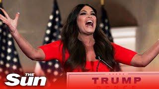 Donald Trump Jr's girlfriend Kimberly Guilfoyle shouts passionate RNC speech