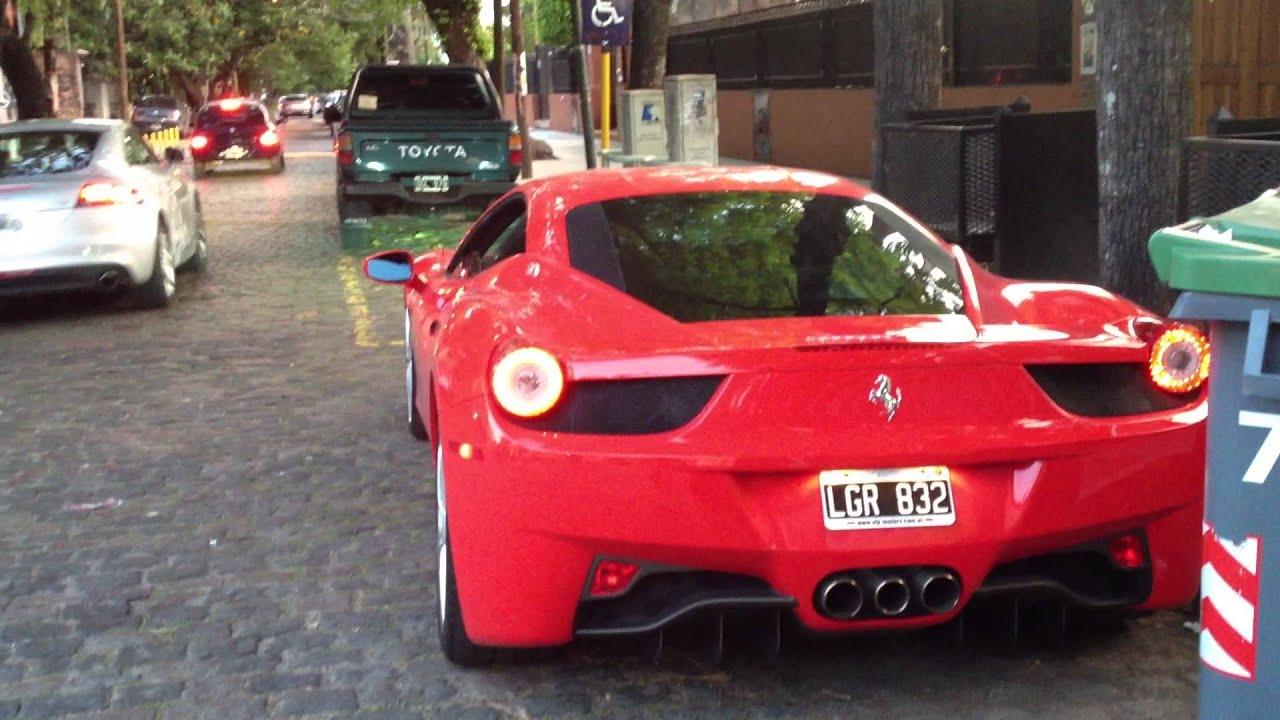 Ferrari 458 Arranque Buenos Aires Argentina Parte 1 Youtube