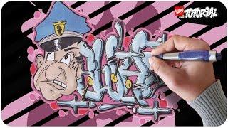 Swat Graffiti Tutorial mit Charakter Schritt für Schritt