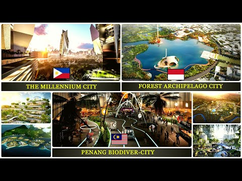 Futuristic City in South East Asia