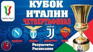 Футбол Кубок Италии 2019 20 1 4 Финала кто в Полуфинале Результаты Расписание