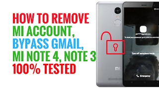 100% Tested | How to Remove Mi account,Mi Cloud Account , Bypass Gmail,Mi Note 4 Note 3 | MrSolution