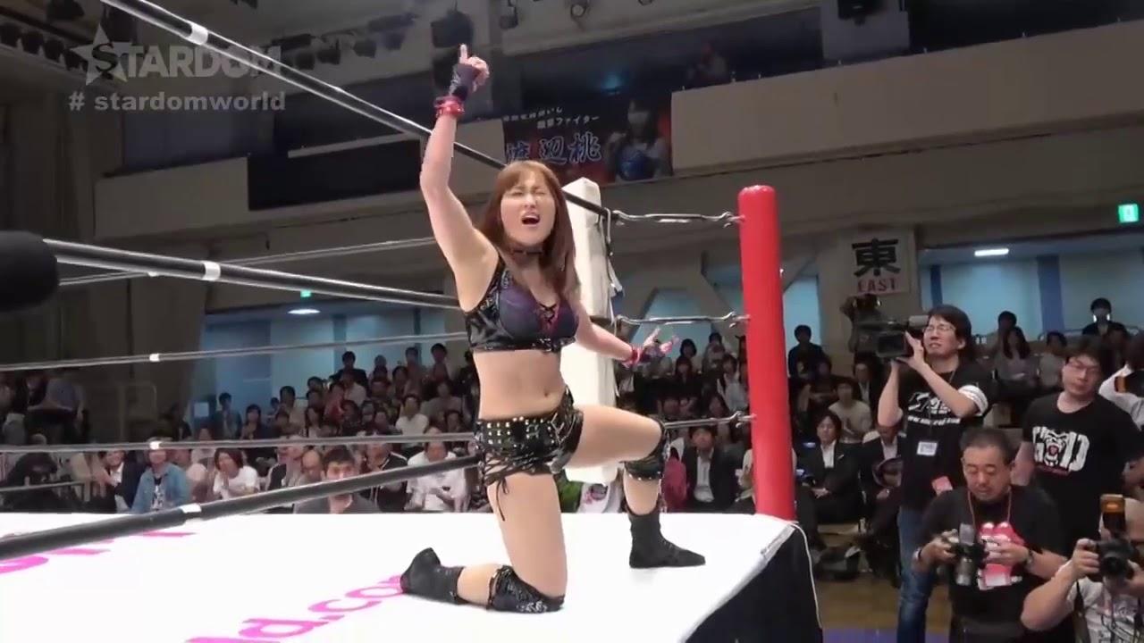 紫雷イオ Io Shirai vs 渡辺桃 Momo Watanabe Wonder Of Stardom Title Match再挑戦(2018-May-23)