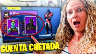 My mother GIVES me A FORTnite CHETADA ACCOUNT with over 100 skins...