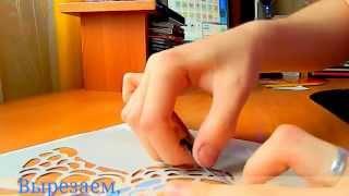 видео Как сделать трафарет розы своими руками