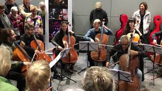 Pop Up celloconcert Station Vijzelgracht Noord/Zuidlijn