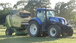 Baling 3rd Cut with New Holland T7.200 & Krone - TechnoMoffat Driving - Silage 2018