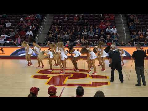 trojancandy.com The USC Song Girls Perform at the Women of Troy Basketball Game versus Cal