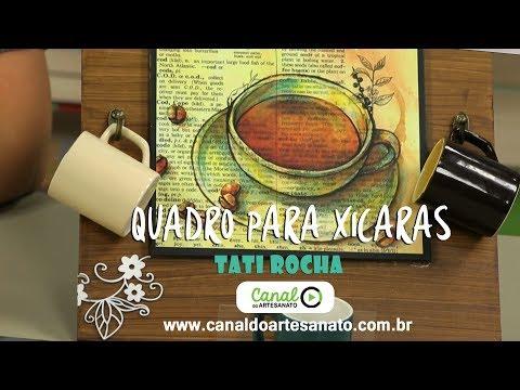Canal Do Artesanato - Quadro Porta Xícaras Em MDF