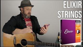 Elixir Strings on a Martin D28 Acoustic Guitar