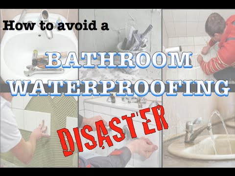 How to avoid a bathroom waterproofing disaster - YouTube