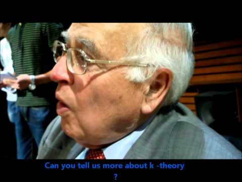Interview of Michael Atiyah a British mathematician by Rabeb Aloui