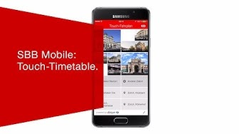 SBB Mobile: Touch-Timetable.