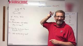 Dynamics - Lesson 2: Rectilinear Motion Example Problem thumbnail