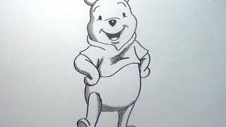 Cómo dibujar al oso Winnie Pooh paso a paso