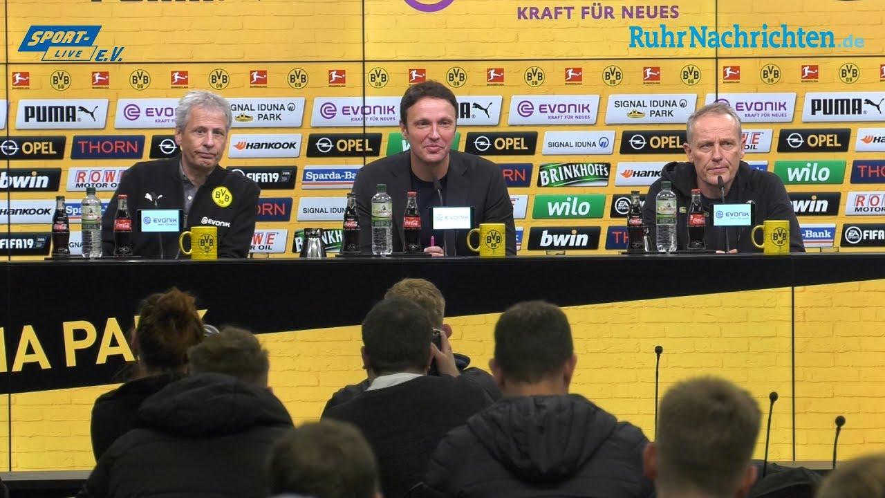 BVB-PK mit Lucien Favre und Christian Streich