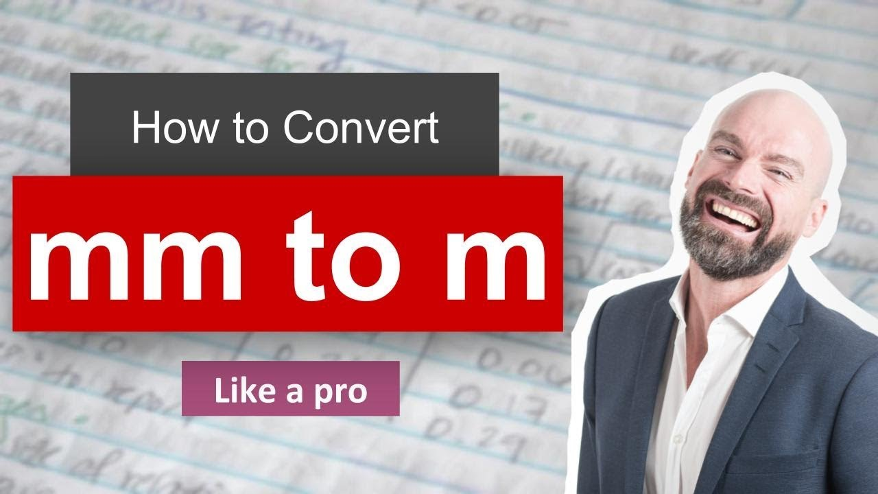 Convert Milimeter To Meter Mm To M Example And Formula Youtube