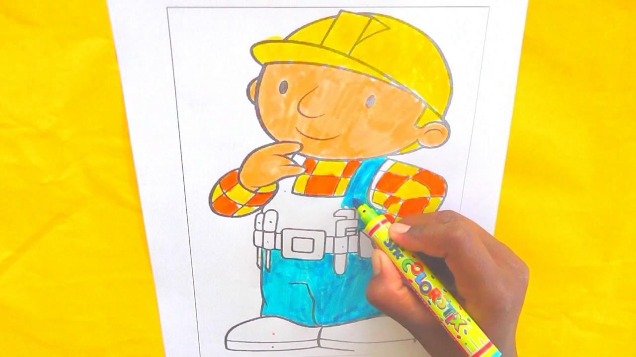 Cómo colorear Bob el Constructor Página para colorear Para bebés ...