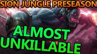 THE MOST BROKEN JUNGLER IN PRESEASON (ALMOST UNKILLABLE TANK SION) - League of Legends Commentary