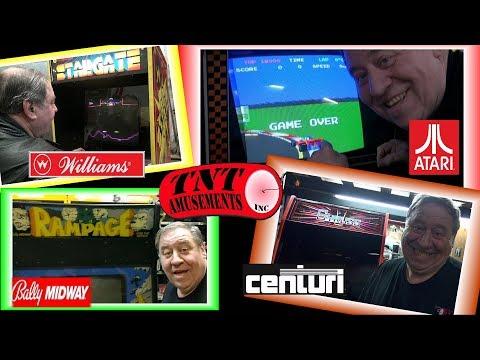 #1380 RAMPAGE-STARGATE-POLE POSITION-GYRUSS Arcade Video Games TNT Amusements