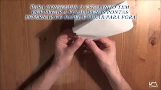 Fazer um estalinho com uma folha de papel