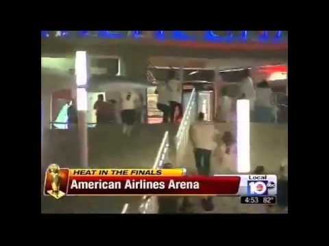 Miami Heat Fans Leaving The American Airlines Arena - Heat vs Spurs - Game 6 Finals