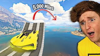 Can You Jump The ENTIRE RIVER In GTA 5.. (Mods)