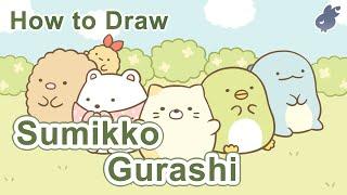 【繪畫教學】如何畫角落生物(朋友們)How to draw|Sumikko Gurashi Friends(Step By Step Drawing)