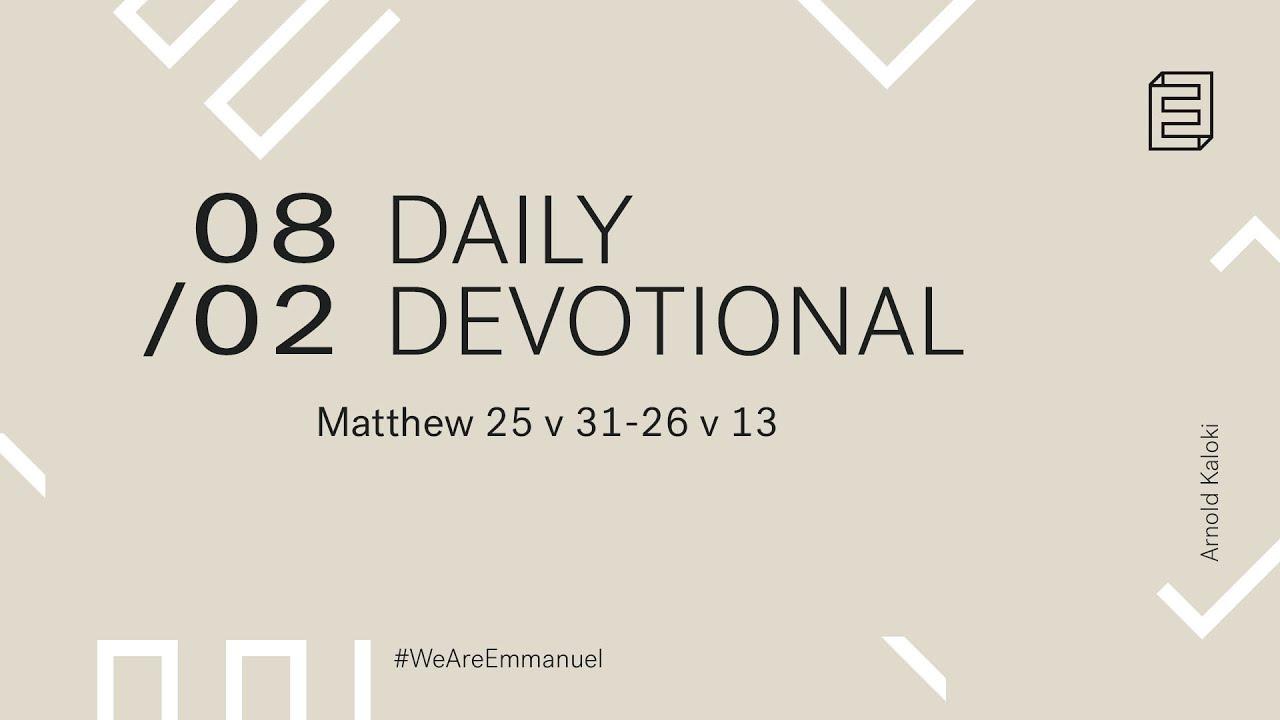 Daily Devotion with Arnold Kaloki // Matthew 25:31-26:13 Cover Image