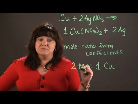 How To Calculate The Mole Ratio Between Silver & Copper : Chemistry And Physics Calculations