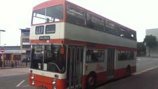 Double-decker Bus Leaving Wythenshawe for Victoria