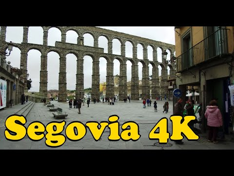 Walk Around Segovia Spain 4K.
