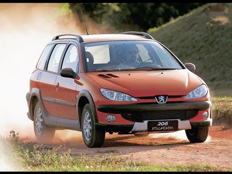 peugeot 206 escapade 2006 test auto al d a youtube. Black Bedroom Furniture Sets. Home Design Ideas