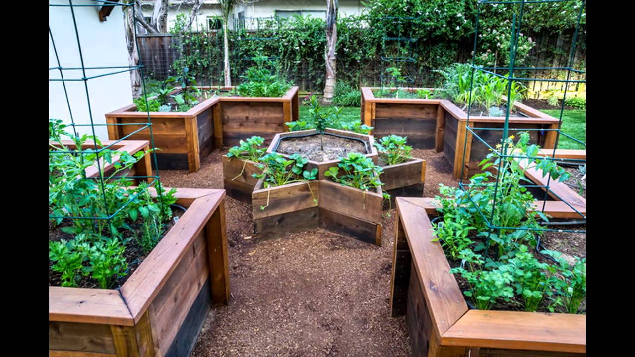 [Garden Ideas] raised vegetable garden bed - YouTube