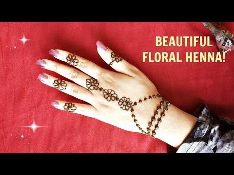 Flower Wali Mehndi : Diy simple floral henna beautiful easy mehendi flowers