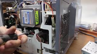 Ремонт микроволновок - замена магнетрона в микроволновке Panasonic(, 2018-02-25T16:55:25.000Z)