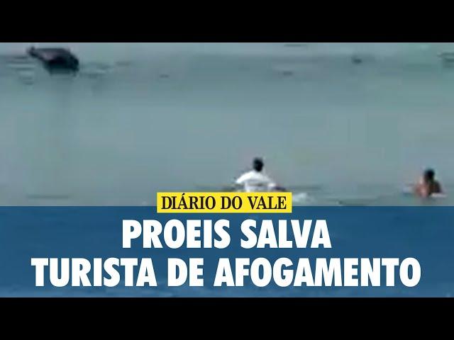 Proeis salva turista de afogamento na Praia de Mambucaba