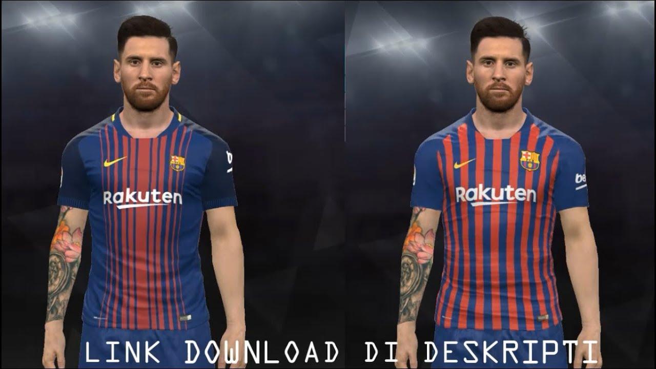 95b0f5704f7 FC Barcelona 18-19 Home Kit Leaked for PES 2017 - YouTube