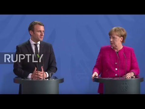 LIVE: Merkel and Macron hold joint press conference following EU talks in Berlin