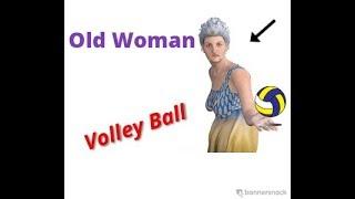 Bà Già Chơi Bóng Chuyền Bá Đạo ( old woman vs  volleyball in Viet Nam)