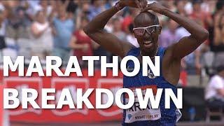BREAKDOWN Mo Farah Running The Marathon
