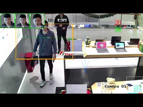 People counting + Face recognition 2 in 1 system
