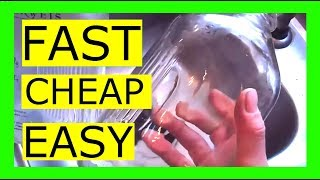 How to clean the inside of glass bottles and jars. Quick and easy!