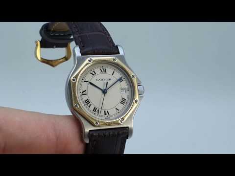 C1988 Carrier Santos Octo Men's Vintage Watch