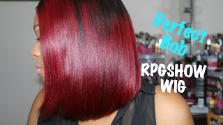 RPGSHOW Bob Wig | DIY Black To RED Ombre Hair Tutorial | Ashanti sc012-s Full Lace Wig | Quick Weave